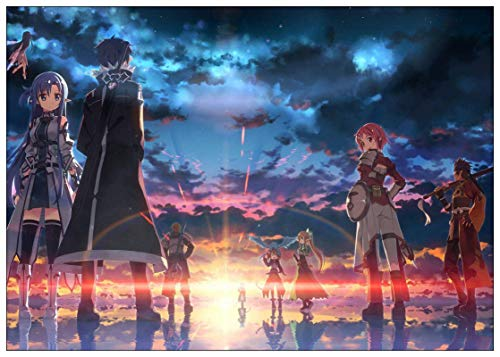 liuguangyicai Wall Painting Poster and Print Japanese Anime Sword Art Online Sao Canvas Picture Wall Stickers Art Oil Painting 50X70Cm B1389