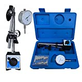 Toolrock Professional 0-10mm Dial Indicator Gauge with Magnetic Base & Point Precision Inspection Set