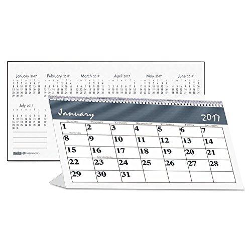 House of Doolittle Bar Harbor Desk Tent Monthly Calendar, 7 x 4-1/4, 2017