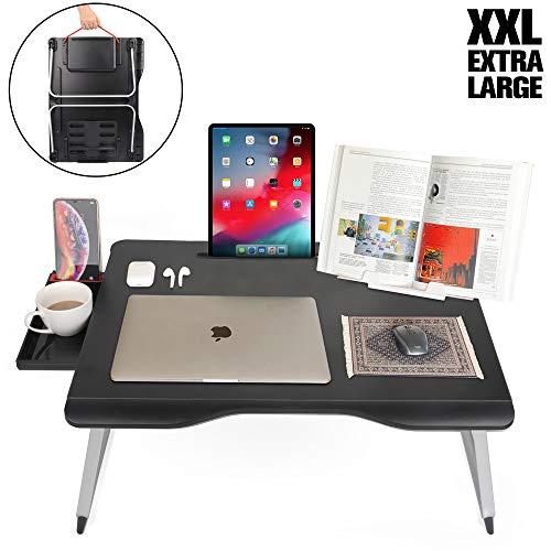 Cooper Cases MEGA TABLE 折りたたみ テーブル ローテーブル ミニ 机 ベッド 一人 幅65×奥行49×高さ27.5cm (ブラック)