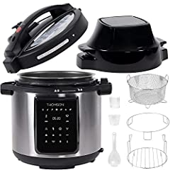 ALL YOU NEED IS ONE - The Thomson Multi-Use Pressure Cooker and Air Fryer is capable of virtually replacing a closet full of appliances. Easily use it as an air fryer, a pressure cooker, a slow cooker, rice cooker, steamer, yogurt maker, and a warmer...