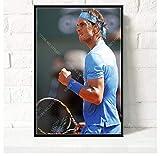 ZOEOPR Leinwand Poster Rafael Nadal Poster Tennis Spieler