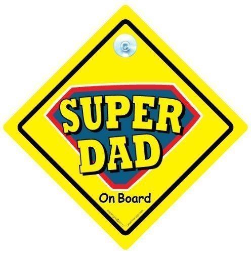 """Englisch """"Superdad Auto, Super Dad"""" Super Dad, Aufschrift """"Baby On Board"""" -Schild, Baby an Bord Aufkleber Autoaufkleber, Aufschrift """"Dad"""", für das Auto, Super Dad On Board Schild, Aufschrift """"Daddy, Vater, Aufschrift"""