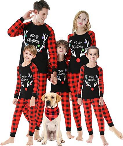 Matching Family Christmas Deer Pajamas Boys Girls Handmade Pjs Baby Clothes Pyjamas Kids Size 12