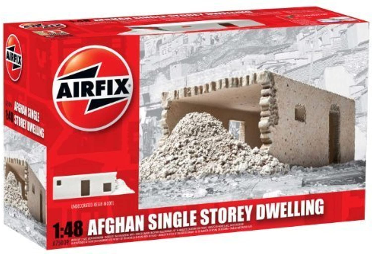 Airfix A75009 Afghan Single Storey Dwelling Model Building Kit, 1 48 Scale by Hornby
