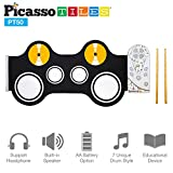 build a drum - Picasso Tiles PT50 Portable Kid's Roll Up Drum, Educational Electronic Drum Set w/ 7 Different Drum Pads, Recording Feature, Headphone Jack, Build-in Speaker, Educational Demos for Toddlers & Kids