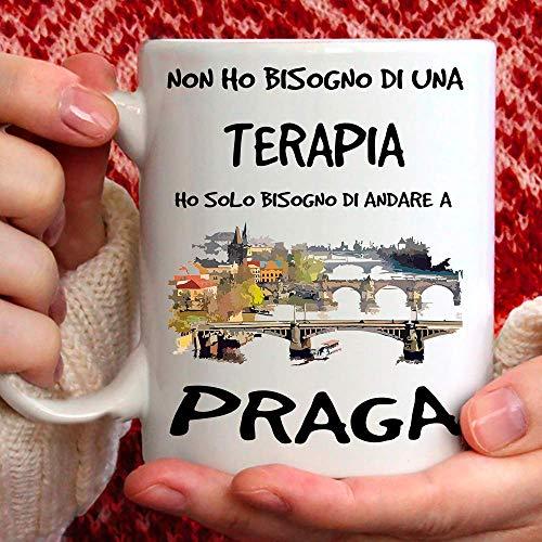 Taza Praga apta para desayuno, té, tisana, café, capuchino. Gadget Taza: Ho Solo tienes que ir a Praga. Idea regalo original