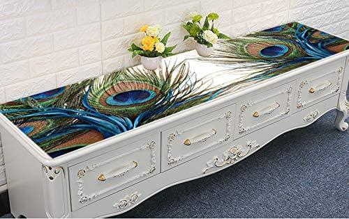 Ranking TOP8 whooplaArt Decorative Velvet Fabric Peacock Soldering Feather Runner Table
