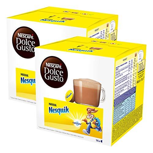 Nescafé Dolce Gusto Nesquik, Paquete de 2, 2 x 16 Cápsulas
