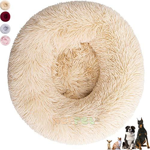 Caseta para perros grandes y pequeños, lavable (70 cm, beig