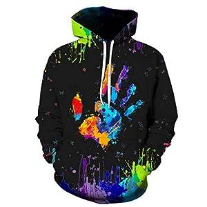 Sweatshirts Herren,ITISME Herren Wintermode Palm Printed Hoodie Langarm-BluseFashion Hoodie Pullover Hooded Sweatshirt