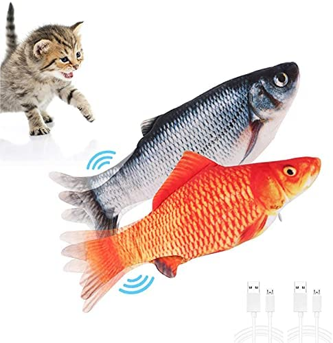 LAD 2 Pack Time sale Flopping Fish Cat for I Year-end gift Toys Toy Moving Electric