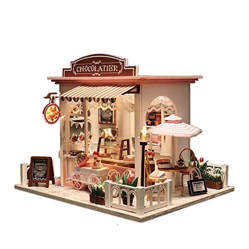 DIY Miniatura Casa, 3D Madera Casa, Con Luz LED,Todos Los Muebles, La Casa De Las Muñecas, Casa De Muñecas Ibsen Muñecas, La Casa De Las Muñecas Jerez,casa De Muñecas Baratas, Artesanía Madera,Niños