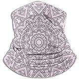 Jxrodekz Rosa Mandala Art Nackenschutz, Kopfbedeckung, Gesichts-Sonnenmaske, magischer Schal, Kopftuch, Sturmhaube, Stirnband