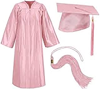pink cap and gown