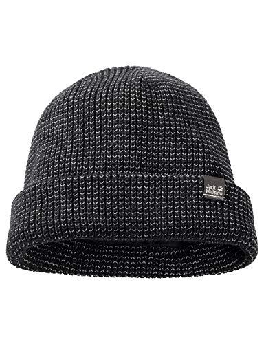 Jack Wolfskin NIGHT HAWK CAP reflektierende Mütze, black, ONE SIZE