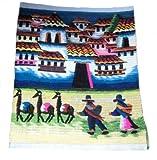 Perú peruano Alpacaandmore tejido a mano alfombra tejida diseño de juego de alfombra HCK EROS 100 x 100 cm