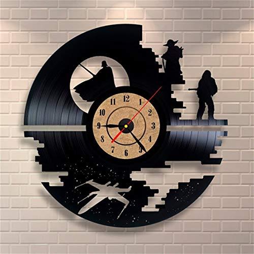 Nuevo CD disco de vinilo reloj de pared vintage retro gran reloj de pared decorativo antiguo arte mesa movimiento de cuarzo