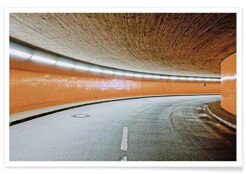 """JUNIQE® Architekturdetails Berlin Poster 20x30cm - Design """"ICC No. 10"""" entworfen von Michael Belhadi"""