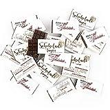 Mini Schokolade einzeln verpackt mit Sprüchen - 50 Mini Tafeln