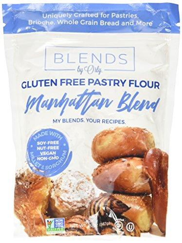 Blends by Orly Manhattan Blend Premium Gluten Free Pastry Flour | Gluten Free Donut Flour - Baking Flour for Gluten Free Challah Bread, GF Brioche Bread, GF Cinnamon Roll & GF Bagels 20 OZ