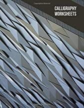 Calligraphy worksheets: Blank practice sheets book with slanted grid paper: Architectural cover design