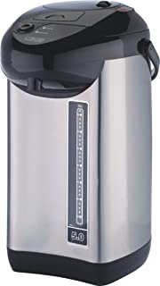ProChef M PC7060 Electric Hot Urn, Stainless Steel, 5-Quart, Double Power Pump, Manual Water Dispenser, Safety Lock, Reboil and Keep Warm Options