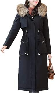 Women Loose Regular-Fit Hooded Warm Winter Coats with Faux Fur Lined Outwear Jacket