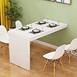 Lsqdwy Wall Mounted Folding Table Space Saver Drop-leaf Table Kitchen & Dining Table Desk Desktop Folding Wall Fold Out Convertible Desk, Wood