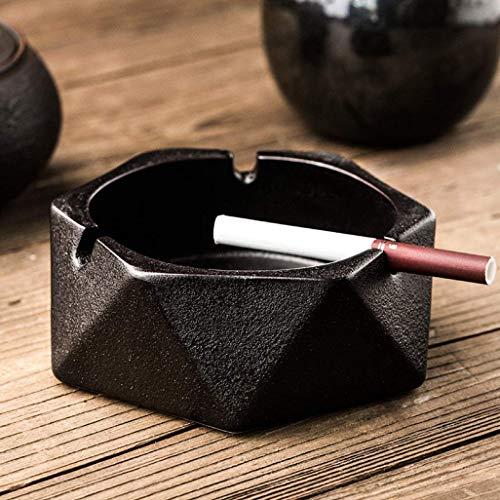 AMITD Ronde keramische asbak industriële draagbare eenkleurige rookschaal voor op kantoor of op kantoor