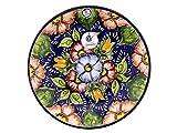 Ceramica Rambalena | Piatto decorativo da appendere a parete | Piatto in ceramica | Piatto da parete | Piatto da parete modello D29 | 100% Decorato a mano | 35 x 35 x 5 cm