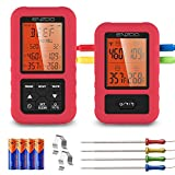 ENZOO Wireless Meat Thermometer, 500FT Meat Thermometer for Grilling Smoking, Remote Smoker...