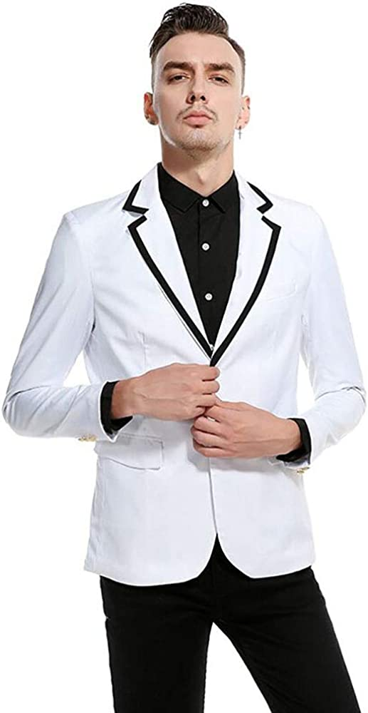 Men's White Suit Elegant Solid One Button Slim Fit Tuxs Party Blazer Vest Pants Set Custom Made