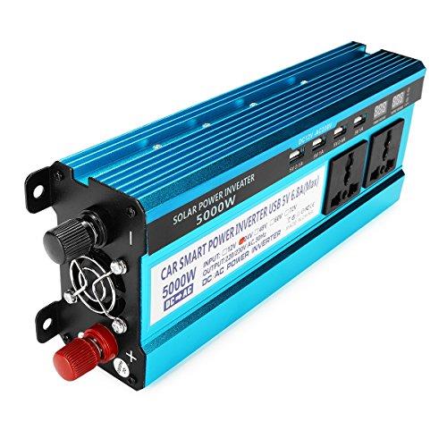 Tutoy 5000W Peak Solar Power Inverter Dual Écrans LED 12V/24V DC À 220V AC Convertisseur À Ondes Sinusoïdales Modifiées - Dc24V