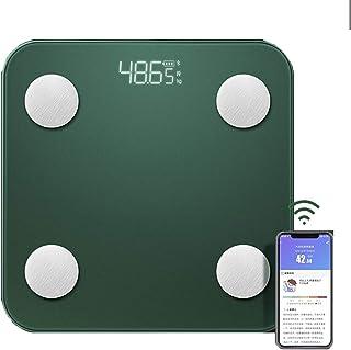 BAIDEFENG Báscula De Grasa Corporal Bluetooth, Báscula Digital Inteligente con Plataforma De Vidrio Templado, Analizador De Composición Corporal, Báscula Inalámbrica