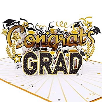 Oritouchpop Congrats Grad Pop Up Card Happy Graduation Card for Him Her Men Women Brother Sister 2021 Graduation Card 3D Greeting Card for School Students Thank You Encourage Congratulate