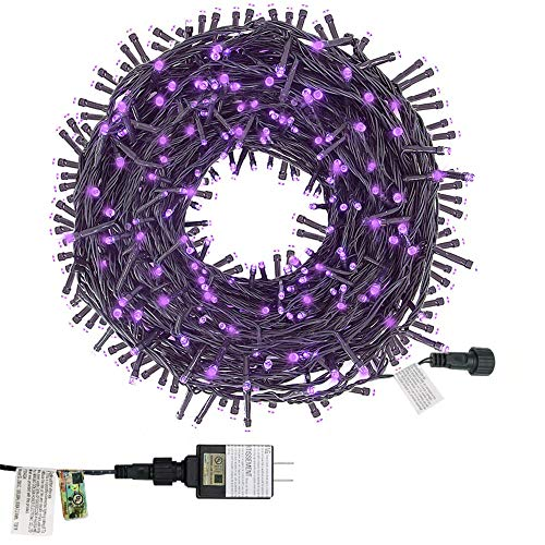 Twinkle Star 200 LED 66FT Fairy String Lights,Christmas Lights with 8 Lighting Modes,Mini String Lights Plug in for Indoor Outdoor Christmas Tree Garden Wedding Party Decoration, Purple