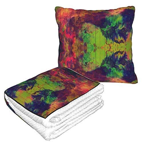 Manta suave 2 en 1, de forro polar, colorida, para sofá, cama, sofá, oficina, para hombres y niños