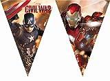 Unique Party Supplies 2,3m Captain America Bürgerkrieg Wimpelkette Flaggen