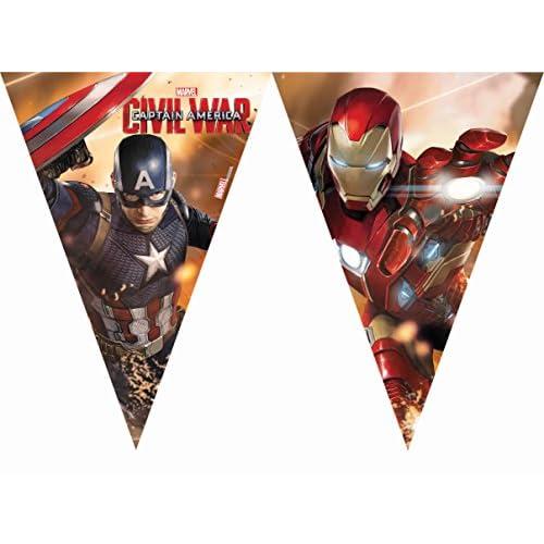 2,3 m Captain America della guerra civile bandierine