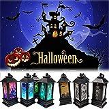 Portavelas de Halloween, velas de imitación de llama, velas de calabaza, velas de noche, velas de té LED, velas para decoración de Halloween(4pcs)