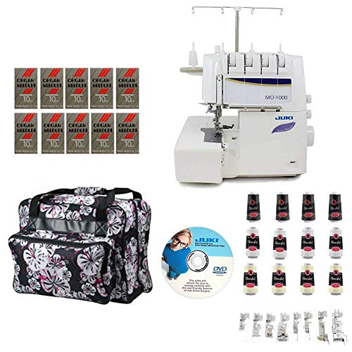 Juki MO-1000 2/3/4 Thread Overlock Serger with Push-Button Air Supported Threading w/Limited time Serger Package!