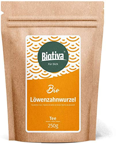 Löwenzahnwurzel Tee Bio 250g - Taraxacum officinale - Löwenzahn getrocknet - In Deutschland abgefüllt und kontrolliert (DE-ÖKO-005)
