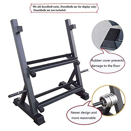 Halter Rekken, Household Two-tier Professional halter Rekken, Multi-functionele kleine display Kamer Fitness Equipment (Kleur: Zwart, Maat: 78 * 51 * 91cm)