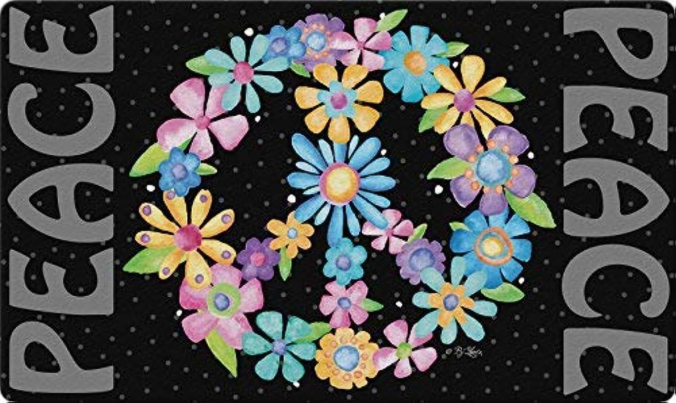 ミュウミュウ人里離れた入手しますToland Home Garden 800451 Peace Sign Flowers Doormat, 18