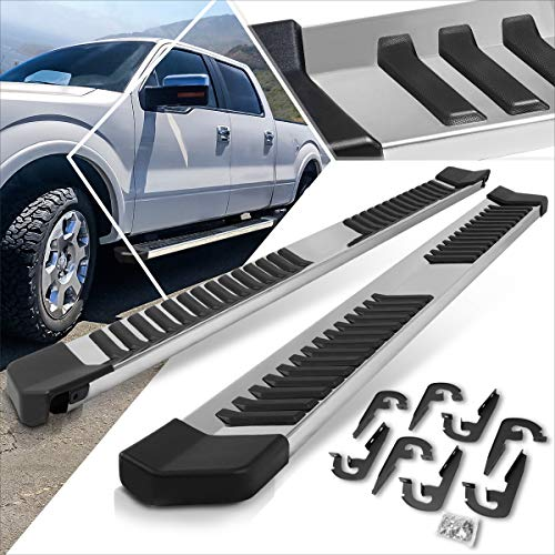 6 Inches Chrome Running Board Side Step Nerf Bar Compatible with Ford F150 SuperCrew Cab 04-14