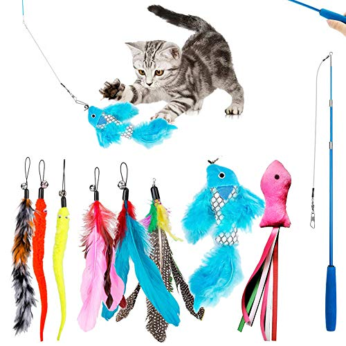 Reehi Cat Toys,27pcs Kitten Toys with Way Tunnel Cat Interactive Toys Set for Indoor Cats Kitten Interactive Mouse Toys Set-Best Gift for Cat.
