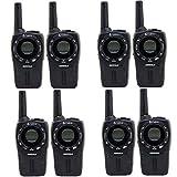 Cobra CXT235 MicroTalk 20 Mile FRS/GMRS 2 Way Walkie Talkie, Black (8 Radios)