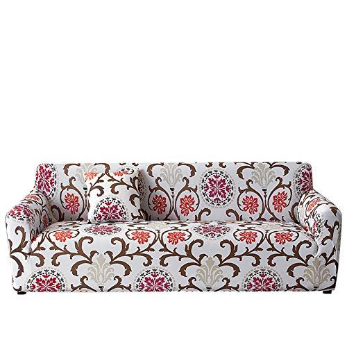 rgf Yinnn Funda Sofa Chaise Longue Brazo, Protector Ajustables de Sofá, Protector Ajustables de Sofá, Protector, para Sofa Chaise Longue 2-Seater 145-185cm Flower