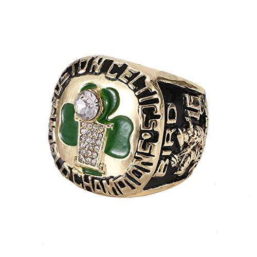 TYTY Anillo de Campeonato de La Liga Profesional de Baloncesto de La NBA, Anillo de Campeonato de Boston Celtics 1986,Without Box,11
